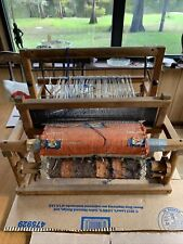 Antique Table Top Loom With Southwestern Style Textile In Process