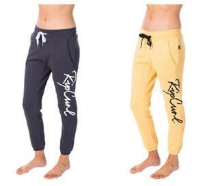 NEW Rip curl Womens Shapers Cuffed Track Pants Fleece Jogger Sweatpants SZ 6-16