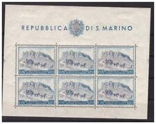 SAN MARINO 1949 -   FOGLIETTO UPU   -  NUOVO  **/*