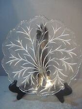 """10"""" Clear Depression Glass 2 sided Relish Platter, Dish, Candy dish, Tree"""