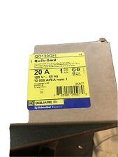 Square D Type Qob120Gfi 20amp Single Pole Gfi Breaker New In Box
