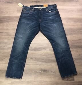 NWT Polo Ralph Lauren The SULLIVAN Slim DISTRESSED Hickory REEVE 38X30 Jeans 👖