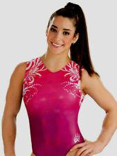 New listing NWT Y6 E3311 Simply Divine Aly Raisman GK ™ gymnastics leotard Free Scrunchie AS