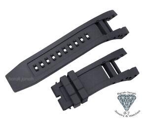 Black Silicone Rubber Watch Band Strap For Invicta Subaqua Noma IV 6564 + Tools