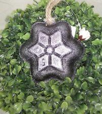 decoración plato para hornear ESTRELLA pared hierro fundido 10cm Shabby Vintage