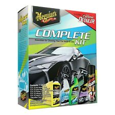Meguiar's 6 Piece Complete Car Care Wash Detail Clean Kit, G55208 NEW