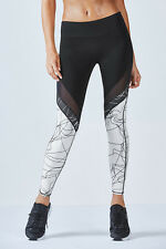Fabletics Brogan Mesh Leggings Black/White Size US 6/8 UK 10/12 LF077 GG 05