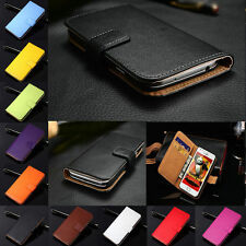 Genuine Leather Flip Wallet Case Card Holder For Samsung Galaxy J3 A3 A5 2017 S8