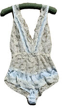 Vintage California Dream Nylon Lace Teddy Romper Playsuit Made In USA L