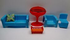 Vintage Barbie Doll 1973 Dream House Furniture Couch Grill Chair Accessories