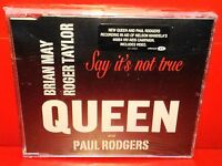 CD QUEEN AND PAUL RODGERS - SAY IT'S NOT TRUE - SINGLE - 1 TRACK + Video - NEW