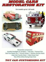 MODEL CAR RESTORATION KIT - fits Dinky, Corgi, Matchbox, Spot-on, Triang, Lledo
