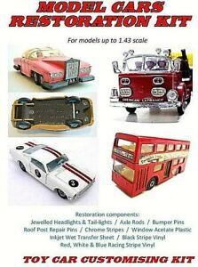 MODEL CAR RESTORATION KIT - fits Dinky, Corgi, Matchbox, Spot-on, Triang, Lledo