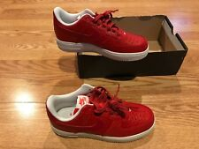 hot sale online 52fb5 5e76e Nike Air Force 1 07 LV8 Action Red White snake skin shoes Cleveland Cavs  LeBron