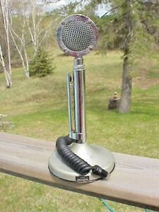 Vintage Astatic D-104 CB Radio Microphone + T-UG8 Stand