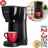 Single Serve Coffee Maker Cup Machine Pod Size Compact Green Brewer Pot.