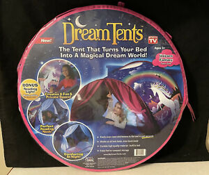 Dream Tents Fun Pop Up Tent For Kids Unicorn Fantasy Twin Size As Seen on TV