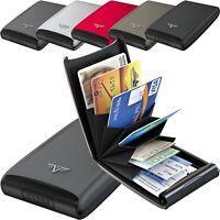 TRU VIRTU Silk Aluminium Kreditkartenetui Bank Scheck Club Karten ALU Etui RFID