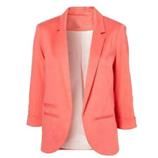Casual Slim Solid Suit Blazer Coat Jacket Outwear Women Candy Color No Buckle Ship From USA Blue M