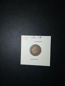 Coins,U.S,1861(circ)1 cent.Rare year(civil war).