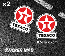 TEXACO Oil Gloss Vinyl Stickers ( High Quality ) F1 fuel LE MANS Classic Cars
