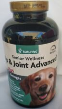 NaturVet~Senior Wellness Hip & Joint Advanced Plus Omegas~90 Chewable Tabs *NEW*