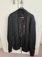 Mens AllSaints Black Moyne Bomber Jacket Medium