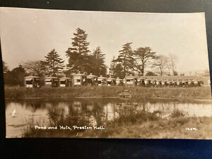 Ponds And Huts Preston Hall Aylsford Kent Maidstone Postcard (243f)