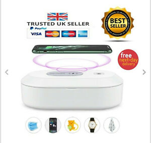 UV Phone Sanitizer with Fast Wireless Charger Built-in Smartphone Sanitiser