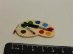 1:12 Scale Artist Paint Pallete Dolls House Miniature Accessory