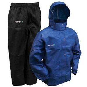 Frogg Toggs Breathable Rain Suit Gear Mens Size 3XL All Sport Royal Blue Black