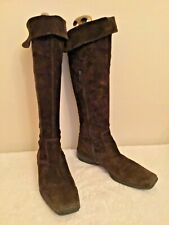 GABOR BROWN SUEDE KNEE LENGTH BOOTS SIZE 6.5/ 39.5