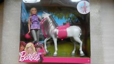 Barbie & Horse Pony Playset Doll, Barbie Doll and Horse NEW