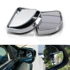 2pcs Chrome Adjustable HD Side View Car Blind Spot Wide Angle Rear Mirror #015