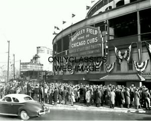 1945 WRIGLEY FIELD CHICAGO CUBS WORLD SERIES BASEBALL PHOTO OLD VINTAGE BALLPARK