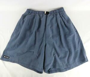 Columbia Men's Swim Shorts Blue/Gray Size XL Nylon w/Mesh lining Elastic Waist