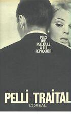 PUBLICITE 1968   L'OREAL pelli- traital soins cheveux pelliculesl
