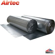 26 SQM YBS AIRTEC DOUBLE FOIL REFLECTIVE BUBBLE INSULATION ROLL - LOFT ROOF WALL
