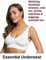 3X SEAMLESS COMFORT LEISURE SPORTS YOGA STRETCH BRA CROP TOP VEST SMALL-XXXL
