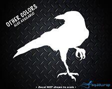 "Crow Raven Blackbird Decal 3.75""x4"" choose color! vinyl sticker C8"