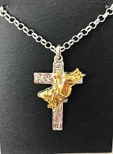 BULL Rider Cross Pendant Necklace