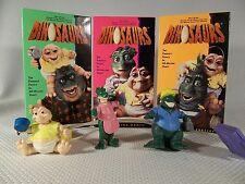 Walt Disney 3 VHS tapes, Dinosaurs TV Show, & 3 McDonalds Happy Meal Motion Toys