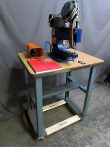 TESTED Cambridge Automatic AE101 Pneumatic Eyelet Rivet Eyeletter Machine