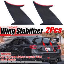 2X Rear Wing Spoiler Support Stabilizer Stiffi For Subaru Impreza WRX STi