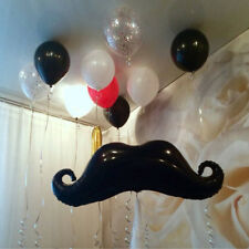 Mustache Shape Foil Balloons Black Beard Baby Shower Party Birthday Decorations