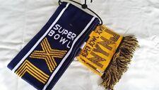 "NFL Super Bowl XLVIII 48 Wordmark Logo 60"" Acrylic Knit Scarf Broncos Seahawks"