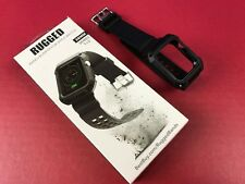 Exclusive - Rugged Watch Strap Band + Bumper for Apple Watch 38mm - Black