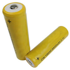 2pcs 18650 3.7V 9800mAh Yellow Li-ion Rechargeable Battery cell For Torch Little