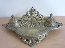Fancy Brass Double Inkwell Andrea by Sadek