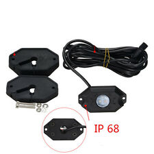 Waterproof Bluetooth Music LED Rock Lights RGB Color Accent Under Car For Jeep
